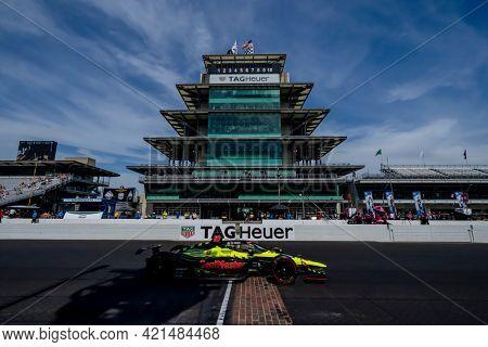 May 21, 2021 - Indianapolis, Indiana, USA: ED JONES (18) of Dubai, United Arab Emirates practices for the 105th Running Of The Indianapolis 500 at the Indianapolis Motor Speedway