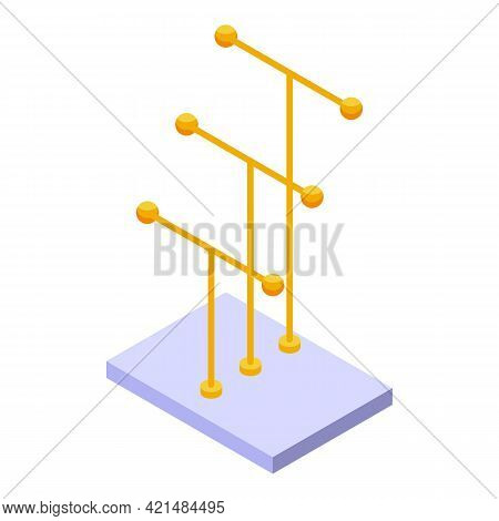Gold Jewelry Dummy Icon. Isometric Of Gold Jewelry Dummy Vector Icon For Web Design Isolated On Whit