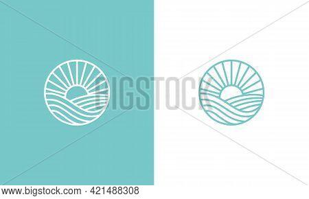 Sunset logo design . Line art Sunset logo design ideas . Sunset. Sunset logo vector. Sunset icon vector. Sunset icon. Sunset logo. Sunset logo template. Sunset logo design. Sunset emblem logo. Sunset logo vector illustration