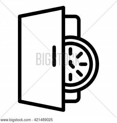 Fast Human Evacuation Icon. Outline Fast Human Evacuation Vector Icon For Web Design Isolated On Whi