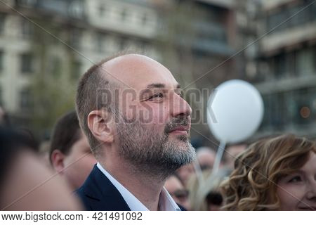 Belgrade, Serbia - March 29, 2019: Sasa Jankovic, Democratic Pro European Candidate For The 2017 Ser