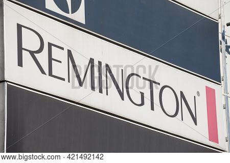 Belgrade, Serbia - April 24, 2021: Logo Of Remington Personal Care On Their Main Office For Serbia.