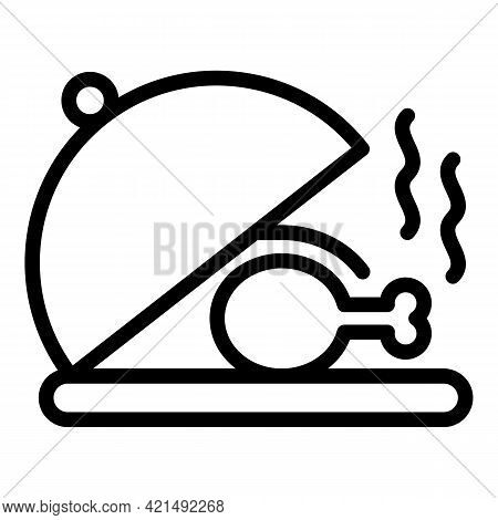 Serving Meal Icon. Outline Serving Meal Vector Icon For Web Design Isolated On White Background