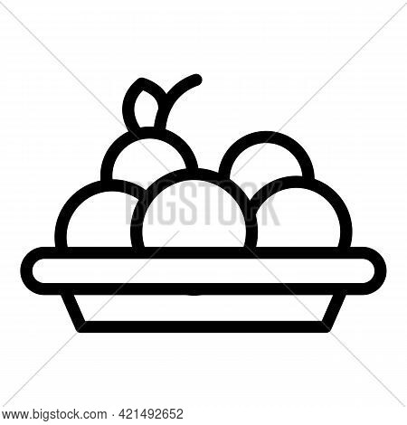 Lunch Food Icon. Outline Lunch Food Vector Icon For Web Design Isolated On White Background