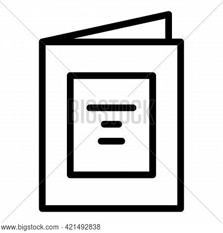 Restaurant Menu Icon. Outline Restaurant Menu Vector Icon For Web Design Isolated On White Backgroun