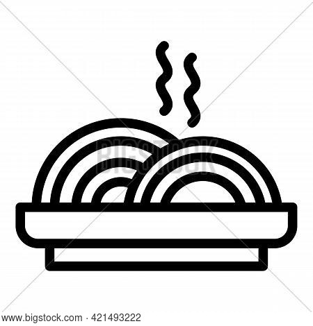 Hot Lunch Icon. Outline Hot Lunch Vector Icon For Web Design Isolated On White Background