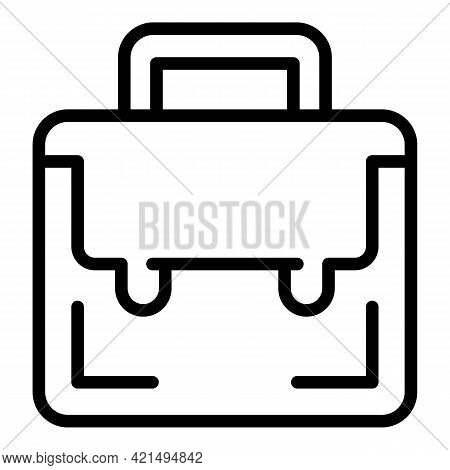 Briefcase School Icon. Outline Briefcase School Vector Icon For Web Design Isolated On White Backgro