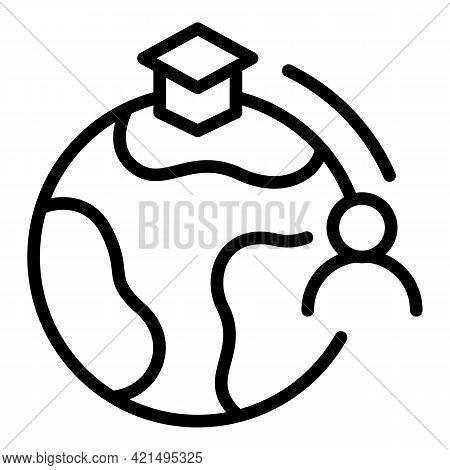 International Education Icon. Outline International Education Vector Icon For Web Design Isolated On