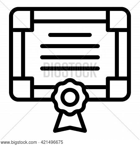 College Diploma Icon. Outline College Diploma Vector Icon For Web Design Isolated On White Backgroun