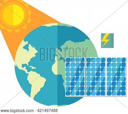 Alternative Sources Of Energy. Production Of Green Electricity Without Harm To Environment. Creation