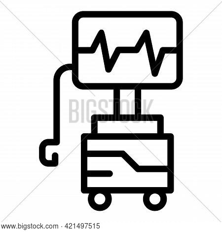First Aid Defibrillator Icon. Outline First Aid Defibrillator Vector Icon For Web Design Isolated On