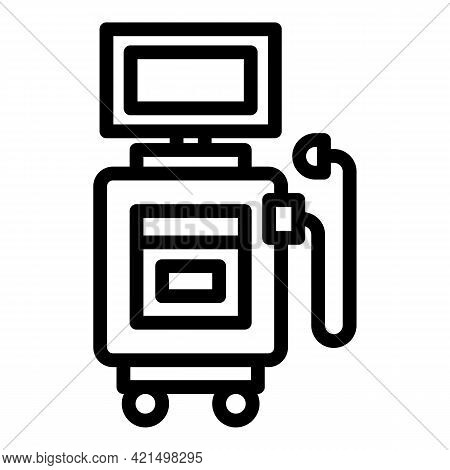 Sonography Machine Icon. Outline Sonography Machine Vector Icon For Web Design Isolated On White Bac