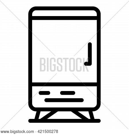 Beverage Machine Icon. Outline Beverage Machine Vector Icon For Web Design Isolated On White Backgro