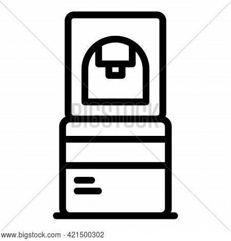 Water Cooler Icon. Outline Water Cooler Vector Icon For Web Design Isolated On White Background