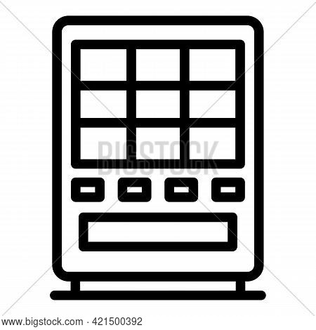 Vending Machine Icon. Outline Vending Machine Vector Icon For Web Design Isolated On White Backgroun