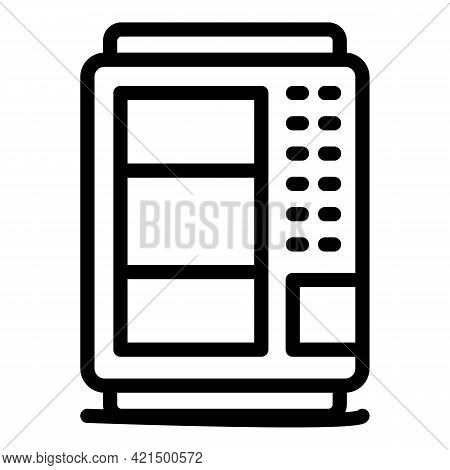 Trading Vending Machine Icon. Outline Trading Vending Machine Vector Icon For Web Design Isolated On