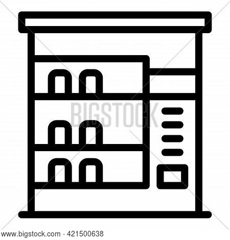 Drinks Appliance Icon. Outline Drinks Appliance Vector Icon For Web Design Isolated On White Backgro