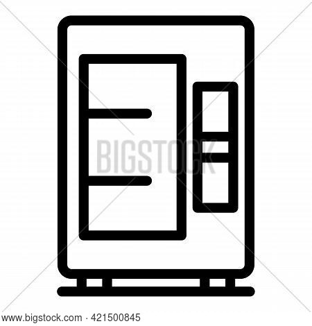Snack Vending Machine Icon. Outline Snack Vending Machine Vector Icon For Web Design Isolated On Whi