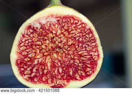 Photo Of Ripe Figs In A Cut Close-up