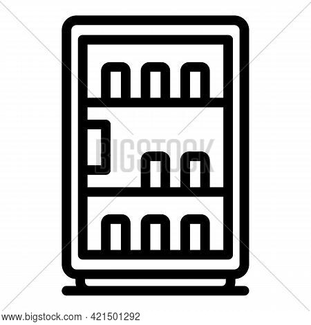Selling Drink Machine Icon. Outline Selling Drink Machine Vector Icon For Web Design Isolated On Whi