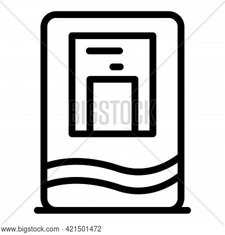 Aqua Machine Icon. Outline Aqua Machine Vector Icon For Web Design Isolated On White Background