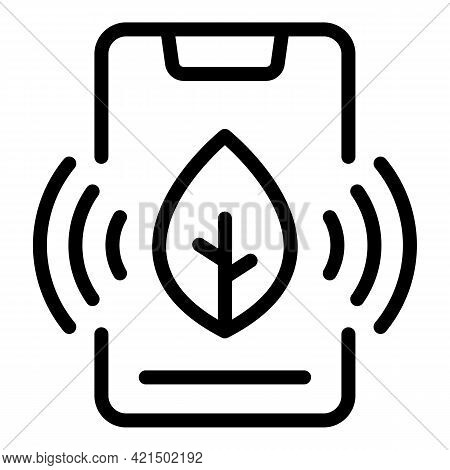 Digital Farming Icon. Outline Digital Farming Vector Icon For Web Design Isolated On White Backgroun