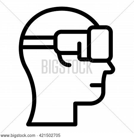 Virtual Reality Icon. Outline Virtual Reality Vector Icon For Web Design Isolated On White Backgroun