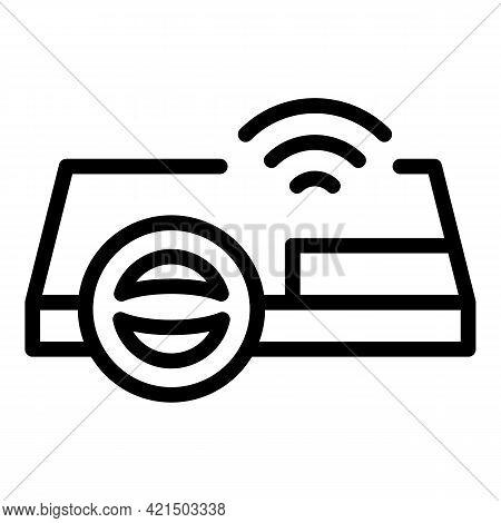 Autonomous Steering Wheel Icon. Outline Autonomous Steering Wheel Vector Icon For Web Design Isolate