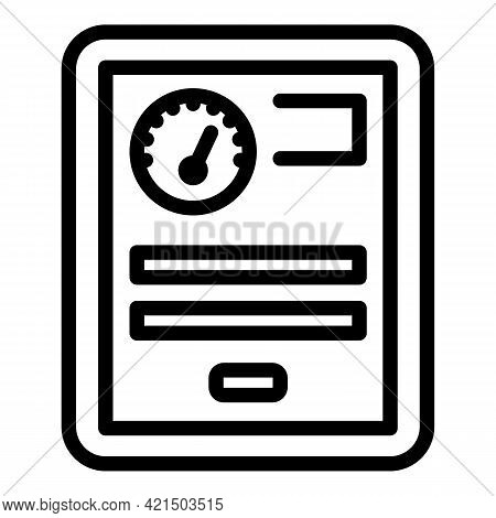 Wireless System Vehicle Icon. Outline Wireless System Vehicle Vector Icon For Web Design Isolated On