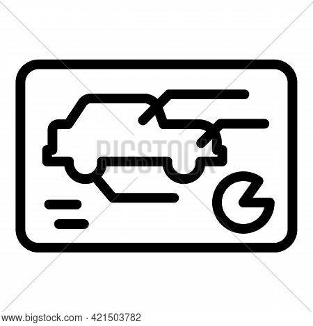 Electric Autonomous Car Icon. Outline Electric Autonomous Car Vector Icon For Web Design Isolated On