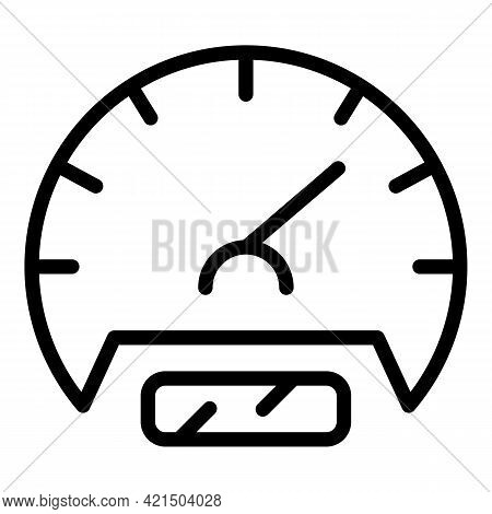 Automated Speed Control Icon. Outline Automated Speed Control Vector Icon For Web Design Isolated On