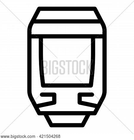 High Speed Tram Icon. Outline High Speed Tram Vector Icon For Web Design Isolated On White Backgroun