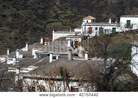 Village rooftops, Bubion, Andalusia, Spain.