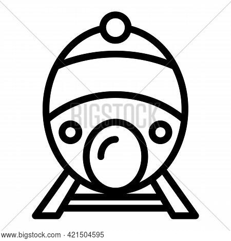 Express Fast Train Icon. Outline Express Fast Train Vector Icon For Web Design Isolated On White Bac