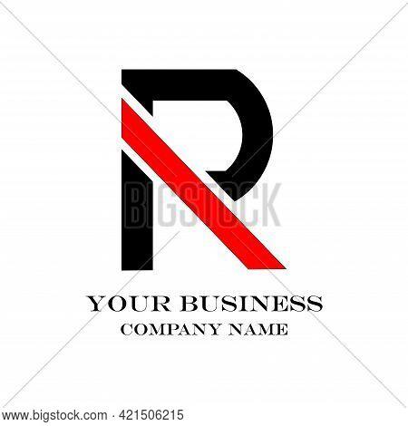 P R Letter Design Logo Vector. P R Design Logo Business
