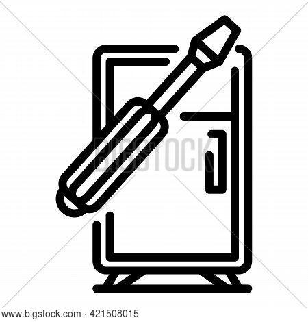Refrigerator Repair Service Icon. Outline Refrigerator Repair Service Vector Icon For Web Design Iso
