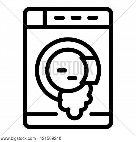 Leaking Washing Machine Icon. Outline Leaking Washing Machine Vector Icon For Web Design Isolated On