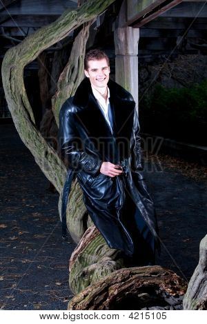 Handsome Man With Tree