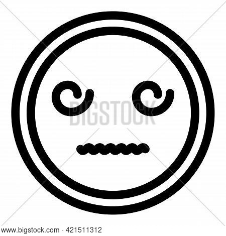 Poker Face Icon. Outline Poker Face Vector Icon For Web Design Isolated On White Background