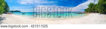 Panorama of tropical beach. Koh Lipe, Thailand