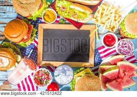 Memorial Day, Usa Independence Picnic Party