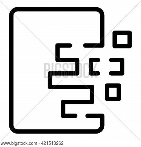 Regeneration Process Icon. Outline Regeneration Process Vector Icon For Web Design Isolated On White