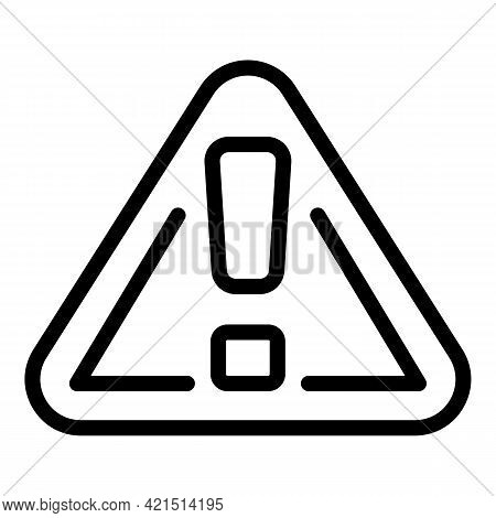 Warning Radar Road Icon. Outline Warning Radar Road Vector Icon For Web Design Isolated On White Bac