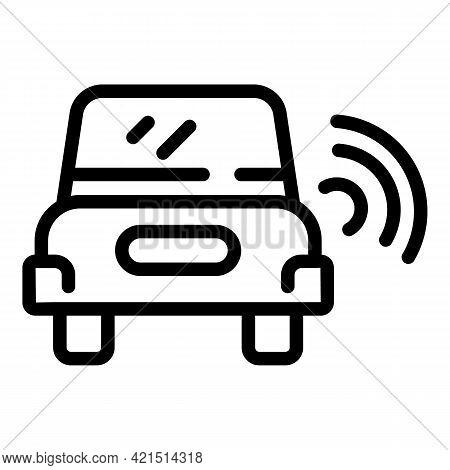 Speed Radar Alert Icon. Outline Speed Radar Alert Vector Icon For Web Design Isolated On White Backg