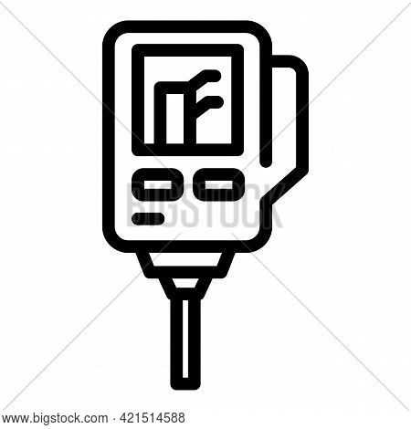 Ph Device Icon. Outline Ph Device Vector Icon For Web Design Isolated On White Background