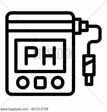 Research Ph Meter Icon. Outline Research Ph Meter Vector Icon For Web Design Isolated On White Backg