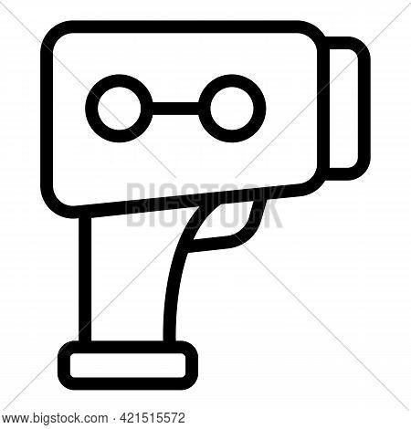 Gun Laser Meter Icon. Outline Gun Laser Meter Vector Icon For Web Design Isolated On White Backgroun