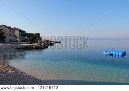 Beach In Village Sumartin On Brac Island In Croatia