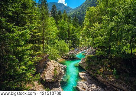 Well Known Rafting And Kayaking Place In Europe. Recreation Place And Kayaking Destination. Wonderfu