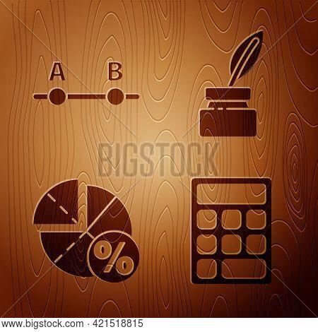 Set Calculator, Graph, Schedule, Chart, Diagram, Graph, Schedule, Chart, Diagram And Feather And Ink